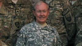 The chairman of the U.S. Joint Chiefs of Staff, General Martin Dempsey, in Afghanistan earlier this week