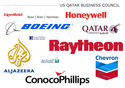 Just some of the corporate members of the US-Qatar Business Council, whose president just so happens to sit on the same board of directors of the Middle East Policy Center as Karen AbuZayd, co-author of one of many conveniently timed UN Human Rights Council reports on Syria.