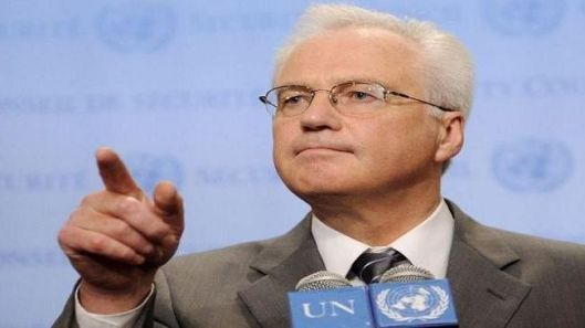 Russian Ambassador to the UN Vitaly Churkin (file photo)