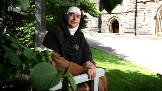 Syrian Christian abbess, Mother Agnes-Mariam de la Croix, pictured at St Patricks church in Melbourne during a visit to Australia. Picture: Stuart Mcevoy Source: The Australian