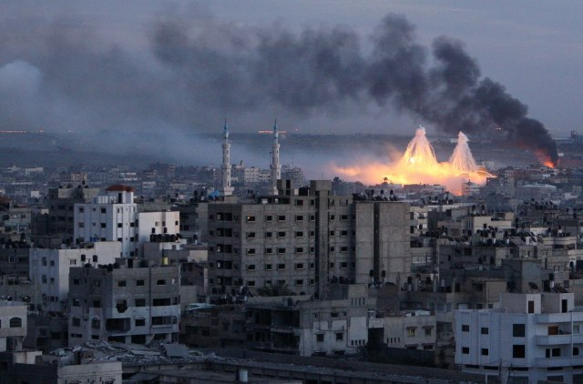 Smoke rises during Israeli's offensive in Gaza