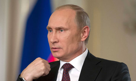Vladimir Putin said Russia may approve military operation in Syria if Damascus is proven to have carried out chemical weapons attacks and UN authorises it. Photograph: Ria Novosti/Reuters