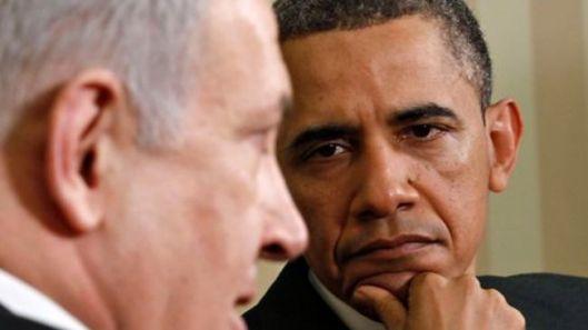 Israeli Prime Minister Benjamin Netanyahu (L) & US President Barack Obama