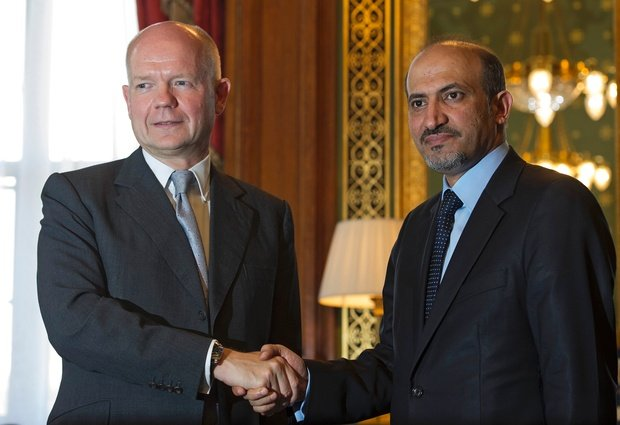William Hague shown with Terrorist Oppostion Leader