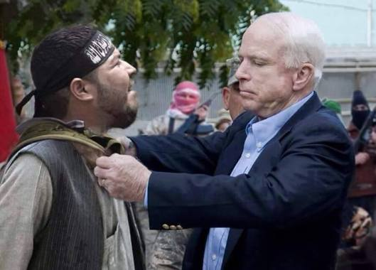 John McCain with the terroritsts he created